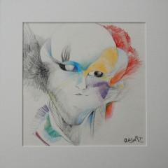 <br>L'OISEAU-LYRE <span style='color: #5E7C98'>- Crayons de couleur sur papier -</span> <em><span style='color: #00CB65;font-size: 10px;'>DISPONIBLE</span></em><br><br>