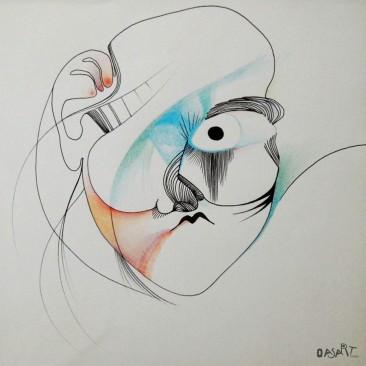 <br>NÔ <span style='color: #5E7C98'>- Encre et crayons de couleur -</span> <em><span style='color: #00CB65;font-size: 10px;'>DISPONIBLE</span></em><br><br>