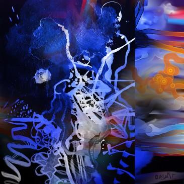 <br>MÉTAMORPHOSE <span style='color: #99AEC0'>- PEINTURE NUMÉRIQUE</span><br> <span style='color: #5E7C98'>70 x 70 cm, tirage fine art numéroté sous cadre -</span> <em><span style='color: #00CB65;font-size: 10px;'>DISPONIBLE</span></em><br><br>  <span style='color: #1e73be;'><em>Je dormais, je me réveillais plus las encore, l'esprit engourdi comme pour une métamorphose.</em></span><br> <span style='color: #333399;'>André Gide</span><br><br>