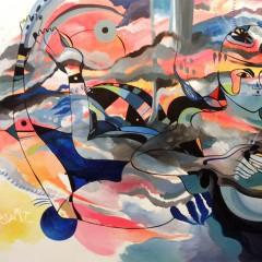 <br>ANDAMAN <span style='color: #5E7C98'>- 1m50 x 1m, acrylique sur toile -</span> <em><span style='color: #FF0000;font-size: 10px;'>VENDUE</span></em><br><br>  <span style='color: #1e73be;'><em>La création n'est rien d'autre qu'un rêve durement mis en forme.</em></span><br> <span style='color: #333399;'>Gilbert Choquette</span><br><br>
