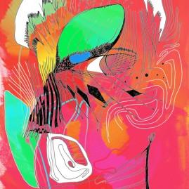 <br><em>ARLEQUIN <span style='color: #99AEC0'>- PEINTURE NUMÉRIQUE</span></em><br> <span style='color: #5E7C98'>Peinture numérique, tirage sur mesure sur papier (digigraphie) ou métal (subligraphie)</span><br/> En vente prochainement sur <a href='https://amandineledu.art/commande' rel='noopener' target='_blank' class='btnjaune'>LA BOUTIQUE</a> en ligne<br/><br/> <span style='color: #5B6F95;'>Cicatrices circassiennes, identité du multiple dévoilée sur scène : l'acteur mis à nu.</span><br><br>