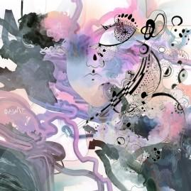 <br><em>AXOLOTL <span style='color: #99AEC0'>- PEINTURE NUMÉRIQUE</span></em><br> <span style='color: #5E7C98'>Peinture numérique, tirage sur mesure sur papier (digigraphie) ou métal (subligraphie)</span><br/> En vente prochainement sur <a href='https://amandineledu.art/commande' rel='noopener' target='_blank' class='btnjaune'>LA BOUTIQUE</a> en ligne<br/><br/> <span style='color: #1e73be;'><em>Je collai mon visage à la vitre de l'aquarium, mes yeux essayèrent une fois de plus de percer le mystère de ces yeux d'or sans iris et sans pupille. Je voyais de très près la tête d'un axolotl immobile contre la vitre. Sans transition, sans surprise, je vis mon visage contre la vitre, je le vis hors de l'aquarium, je le vis de l'autre côté de la vitre. Puis mon visage s'éloigna et je compris.</em></span><br><br> <span style='color: #333399;'>Julio Cortazar</span><br><br>  <span style='color: #5B6F95;'>Visite d'un reflet : se reconnaître furtivement dans un vague à l'âme, révélé par l'écran aquatique d'un artifice en perpétuel mouvement.</span><br><br>