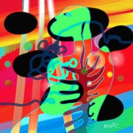 <br>COLON(NE) <span style='color: #99AEC0'>- PEINTURE NUMÉRIQUE</span><br> <span style='color: #5E7C98'>Lumière sur écran -</span> <em><span style='color: #FF8D00;font-size: 10px;'>PAS À VENDRE</span></em><br><br>