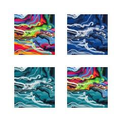 <br>ÉTAPE N°2 : Le passage par Photoshop, logiciel qui me permet de tester différentes variations de couleurs, mais aussi de découper l'image au pixel près. Ici, je suis une ligne de démarcation du tableau pour le séparer en deux zones distinctes, venant intégrer la notion de paysage.<br><br>
