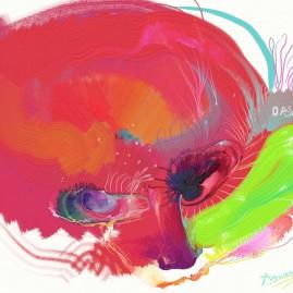 <br>LE CHAT SOURIS <span style='color: #99AEC0'>- PEINTURE NUMÉRIQUE</span><br> <span style='color: #5E7C98'>Lumière sur écran -</span> <em><span style='color: #FF8D00;font-size: 10px;'>PAS À VENDRE</span></em><br><br>