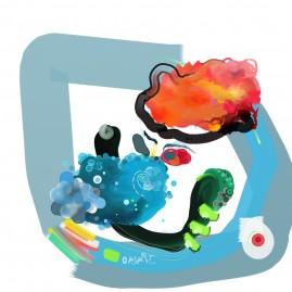 <br>SEUL REGARD <span style='color: #99AEC0'>- PEINTURE NUMÉRIQUE</span><br> <span style='color: #5E7C98'>60 x 60 cm, tirage photographique numéroté sous cadre -</span> <em><span style='color: #00CB65;font-size: 10px;'>DISPONIBLE</span></em><br><br>