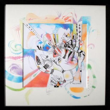 <br><em>TALISMAN <span style='color: #99AEC0'>- CARRÉ MAGIQUE N°1</span></em><br> <span style='color: #5E7C98'>21x21 cm, encre de chine et crayons de couleur</span><br/> En vente sur <a href='https://amandineledu.art/commande/produit/talisman/' rel='noopener' target='_blank' class='btnjaune'>LA BOUTIQUE</a> en ligne<br/><br/>