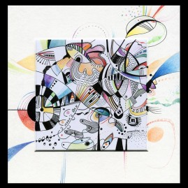 <br>NOAH'S OAK <span style='color: #99AEC0'>- CARRÉ MAGIQUE N°3</span><br> <span style='color: #5E7C98'>21x21 cm, encre de chine et crayons de couleur -</span> <em><span style='color: #00CB65;font-size: 10px;'>DISPONIBLE à l'Atelier de Pornichet - 230 €</span></em><br><br>