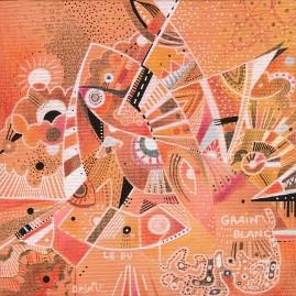 <br>GRAIN BLANC <span style='color: #99AEC0'>- AUX QUATRE CHEMINS N°4</span><br> <span style='color: #5E7C98'>20 x 20 cm, technique mixte sur carton toilé -</span> <em><span style='color: #00CB65;font-size: 10px;'>DISPONIBLE à l'Atelier de Pornichet - 290 €</span></em><br><br>