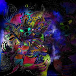 <br><em>MALADICTION <span style='color: #99AEC0'>- PEINTURE NUMÉRIQUE</span></em><br> <span style='color: #5E7C98'>Peinture numérique, tirage sur mesure sur papier (digigraphie) ou métal (subligraphie)</span><br/> En vente sur <a href='https://amandineledu.art/commande/produit/maladiction/' rel='noopener' target='_blank' class='btnjaune'>LA BOUTIQUE</a> en ligne<br/><br/> <span style='color: #1e73be;'><em>J'ai mille mondes dans mes souliers, jamais je n'arrêterai de marcher...</em></span><br> <span style='color: #333399;'>Alain Allet</span><br><br>  <span style='color: #5B6F95;'>Petit Poucet perdu dans l'océan sombre de l'addiction, les grains de sable qu'il a semés en nage sur son passage tracent sa déroute en pointillés.</span><br><br>